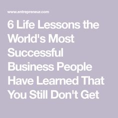 6 Life Lessons the W