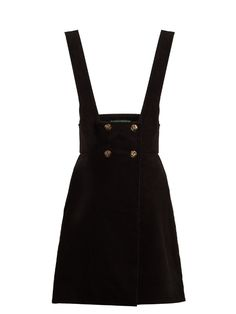 Alexachung Double-breasted cotton-corduroy pinafore dress