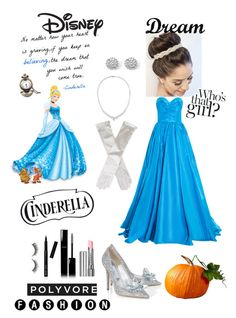"""Cinderella Theme"" by cassidyjean-nichols ❤ liked on Polyvore featuring Oscar de la Renta, Disney, By Terry, Palm Beach Jewelry, Stephen Webster, Chanel, Rimini, Bobbi Brown Cosmetics and Dot & Bo"