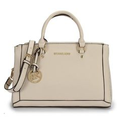 Charming Michael Kors Logo Large White Satchels Make You To BeCrazy