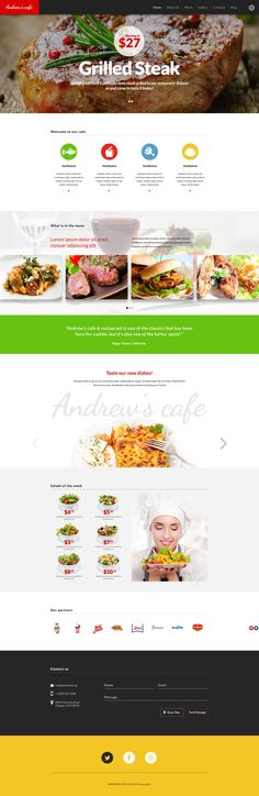 Cafe and Restaurant - WordPress Template