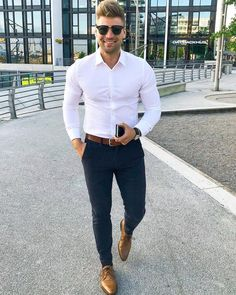 46 Stylish Formal Men Work Outfit Ideas To Change Your Style - Business Outfit Formal Dresses For Men, Formal Men Outfit, Work Outfit Men, Mens Semi Formal Wear, Business Casual Men, Men Casual, Casual Styles, Men's Business Outfits, White Shirt Outfits