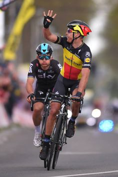 52nd Amstel Gold Race 2017 / Men  Arrival / Philippe GILBERT Celebration / Michal KWIATKOWSKI / Maastricht Valkenburg / Men /