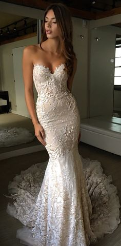 Wonderful Perfect Wedding Dress For The Bride Ideas. Ineffable Perfect Wedding Dress For The Bride Ideas. Open Back Wedding Dress, Dream Wedding Dresses, Bridal Dresses, Bridesmaid Dresses, Wedding Dress Trumpet, Fitted Lace Wedding Dress, Wedding Dressses, Event Dresses, Long Dresses