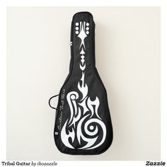 Shop Tribal Guitar Guitar Case created by ibozazzle. Guitar Bag, Perfect Music, Music Gifts, Backpack Straps, One Bag, Personalized Gifts, Create Your Own, Unique Products, Bags