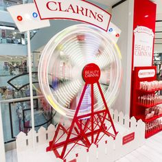 D4R have worked with Clarins to design and implement their Beauty Carnival event exclusively in Debenhams Oxford Street.