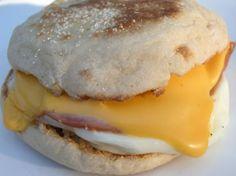 Microwave breakfast sandwich