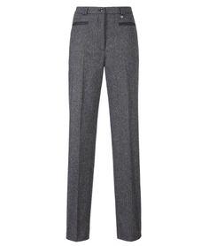 Pantalon stretch PRETA02C tweed gris foncé