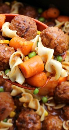 Easy Crockpot Meatball Stew