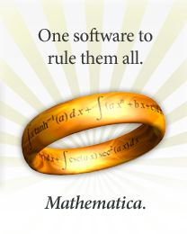 One software to rule them all. Mathematica. Bravo guys!