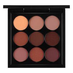 MAC Burgundy Times Nine Eyeshadow Palette Noir Honey Lust Quarry Antiqued Star Violet Haux Embark Sketch Poppyseed