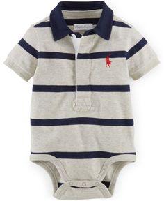Polo Ralph Lauren Baby Boys' Striped Polo Bodysuit - Kids & Baby - Macy's