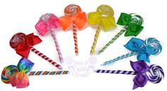Custom Bridesmaid Single Lollipop Candy Bouquet by KeepItCandy