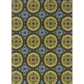 Blue/Green Outdoor Area Rug (7'10 x 10') | Overstock.com Shopping - The Best Deals on 7x9 - 10x14 Rugs