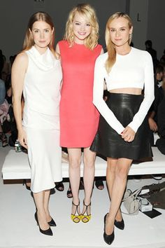 Amy Adams, Diane Kruger and Emma Stone in Calvin Klein Collection