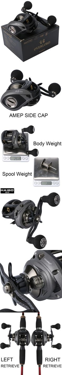 Haibo OVERLORD Super Light Carbon Fiber Handle Baitcasting Fishing Reel 5.4:1 8BB+1RB Saltwater/Freshwater Magnetic Brake System