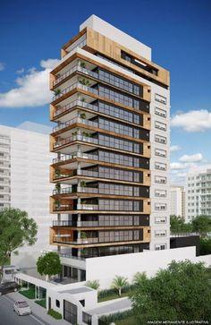 - - FGMF Arquitetos investe na arquitetura contemporânea em novo projeto nos Jardins, em São Paulo Architecture Building Design, Building Facade, Building Exterior, Modern Architecture House, Facade Design, Futuristic Architecture, Residential Architecture, Exterior Design, Commercial Architecture