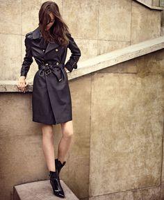 Josephine Le Tutour by Cedric Bihr for M le Monde - Louis Vuitton leather trench coat