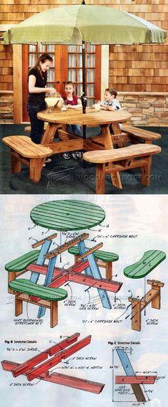 Build Picnic Table - Outdoor Furniture Plans & Projects | WoodArchivist.com