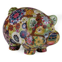 Could decoupage a piggy bank with scrapbook paper