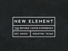 New Element Fine Vapors Bottle Logo