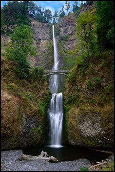 Multnomah Falls OR Oregon, Portland Vista House Columbia River Gorge Historic Columbia River Highway HCRH WA Washington gorge basalt scenic drive view views waterfalls