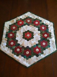 Christmas tree skirt idea.