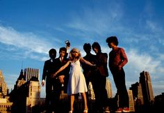 Photo de Debbie Harry, Clem Burke et Chris Stein, Jimmy Destri, Frank Infante, Nigel Harrison, 1978, Etats-Unis
