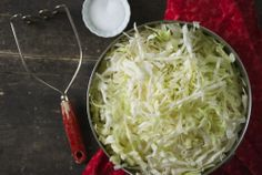 """Easy HomemadeSauerkraut[...] I like my sauerkraut to have a lot of crunch to it."""