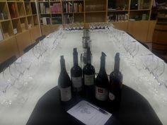 Cata de vinos tintos monovarietales (Pinot Noir, Merlot, Cabernet Sauvignon, Syrah, Petit Verdot)