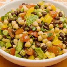 Black Bean, Chickpea and Avocado Salad