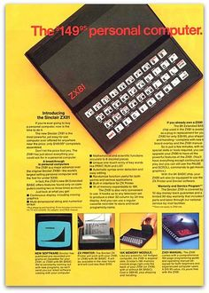Sinclair, Home computer Alter Computer, Home Computer, Radios, Pub Vintage, Computer Equipment, Old Technology, Vintage Advertisements, Geek Stuff, Memories