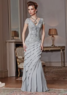 636cd18bd2c Check out the deal on VM Collection 71022 Asymmetrical Tiered Gown at French  Novelty