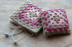 linen pincushion and needle book