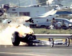 Vintage Drag Racing - Dragster - Blower fail