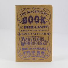 "Carnet ""Magnificent Book of ideas"" - Etsy (6€)"