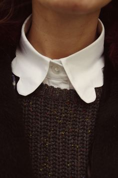 scalloped collar / it's all in the details