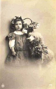 Vintage Postcard ~ Little Girl w/Poodle Dog | Flickr - Photo Sharing!