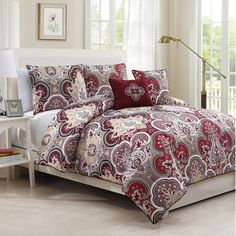 Outfit your master suite or guest room in eye-catching style with this distinctive comforter set, featuring a damask motif.  Product...