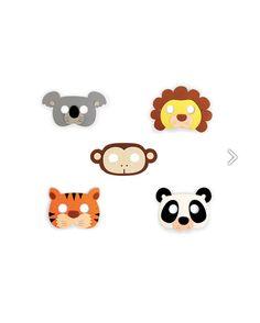Caretas infantiles de animalitos fabricadas en espuma