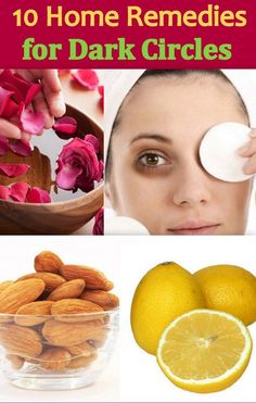 10 Effective Home Remedies to get rid of dark circles under your eyes. http://www.feminiya.com/10-handy-home-remedies-for-dark-circles/