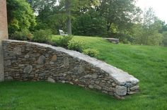 Curved wall | Rue Sherwood Landscape Design.  I really do love a curved wall in fact.