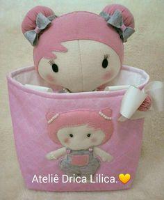 Tilda Baby confeccionada em feltro.. Ateliê Drica Lilica.