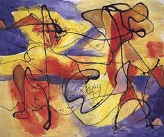 a colorful Jackson Pollack.
