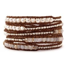 Chan Luu African Opal Mix Wrap Bracelet on Natural Brown Leather for only $185.00 You save: $40.00 (18%)