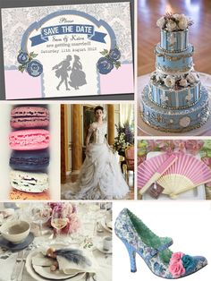 Marie Antoinette Wedding Mood Board by In the Treehouse