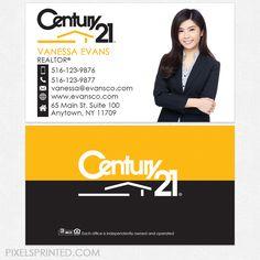 Century 21 Business Cards Century 21 Cards Realtor Business Cards
