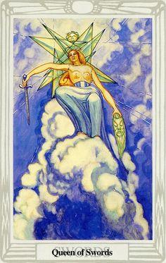 La reine d'épées - Tarot Thoth par Aleister Crowley
