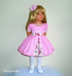 Dress-hair-clip-tights-to-fit-Gotz-Hannah-Gotz-Happy-Kidz-by-Vintagebaby