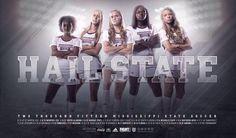Mississippi State 2015 Women's Soccer Poster
